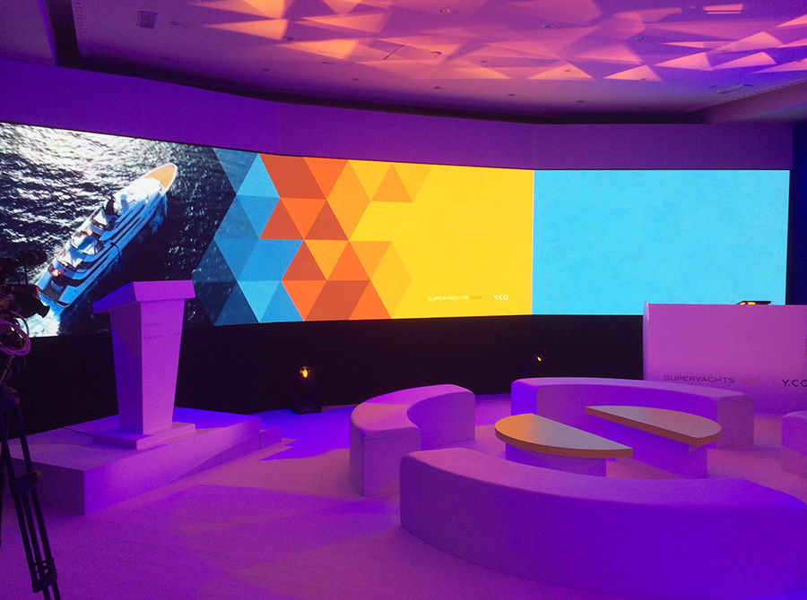 Indoor Modular Los Angeles LED Display Screen Rental